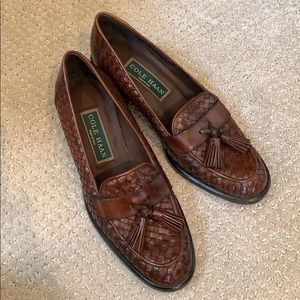 New Cole Haan Woven Tassel Loafers